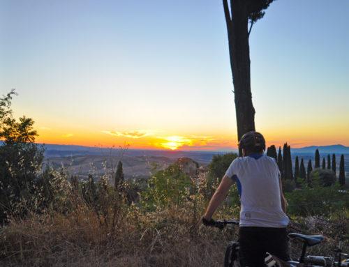 Au coucher de soleil près de Montaione (La Pietrina)